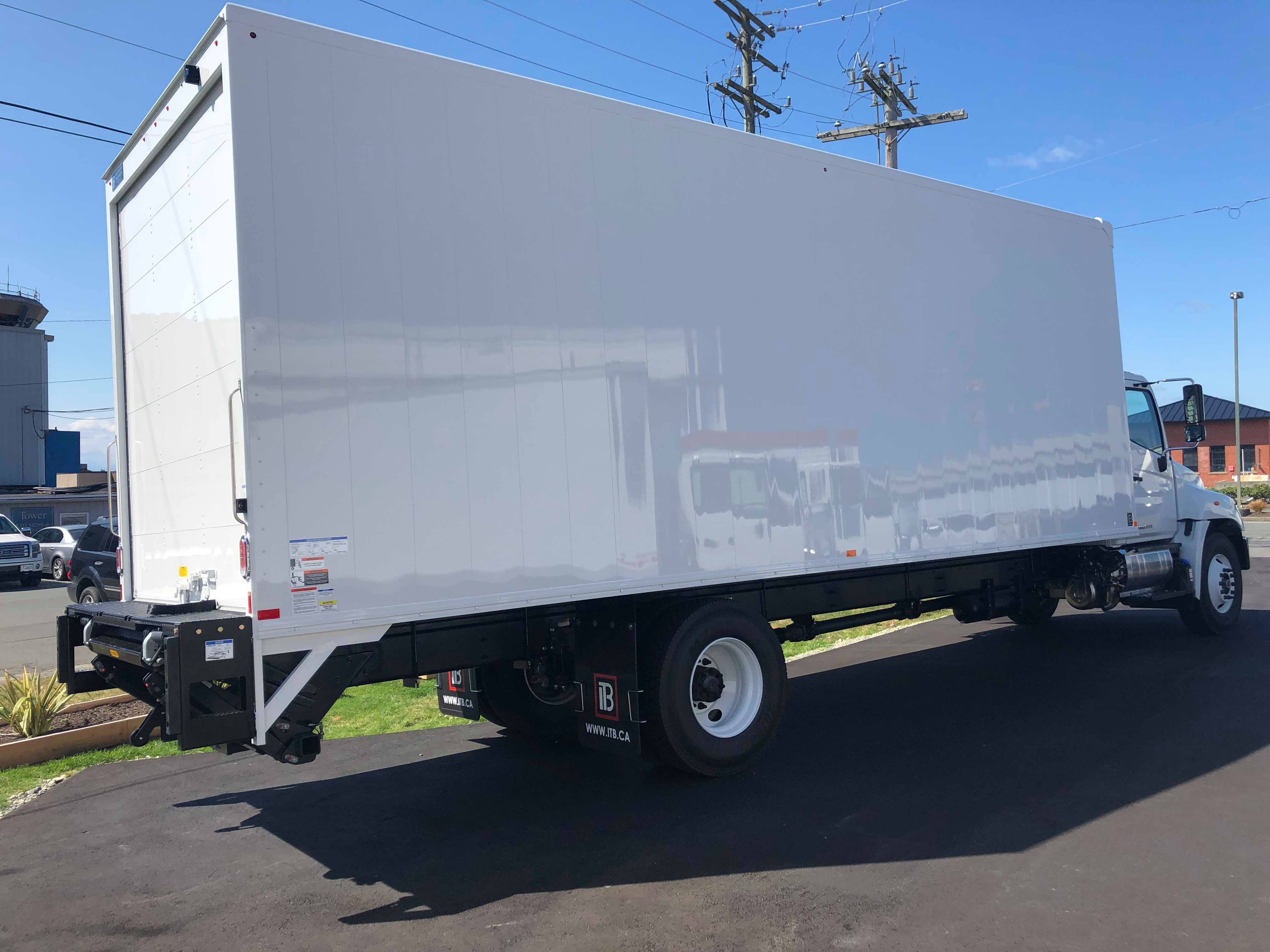 2019 Hino 338 with 26' Van Body and Power Lift Gate
