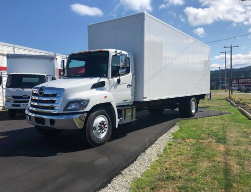 2019 Hino 338 with 26′ Van Body and Power Lift Gate – Contact for Price