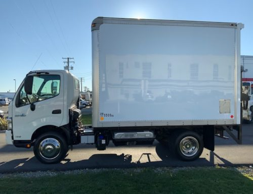 2015 Hino 195 HYBRID (12′ Box & Power Tail Gate) – $84,500