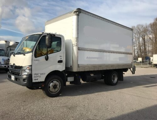 2017 Hino 195 with 16′ Box and Power Tail Gate – SOLD