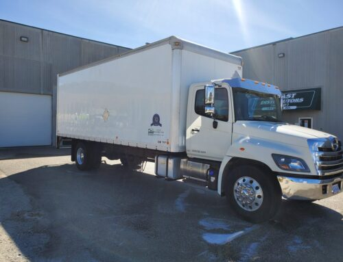 2014 Hino 338 with 24′ Collins Van Body – $29,900