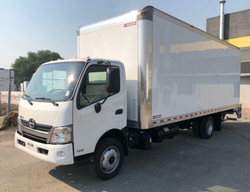 2019 Hino 195 w/ 22′ Box and PTG (EX-DEMO) – $99,840